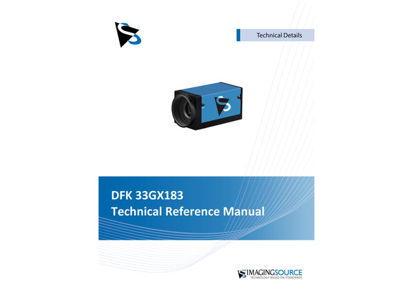 DFK 33GX183 Technical Reference Manual