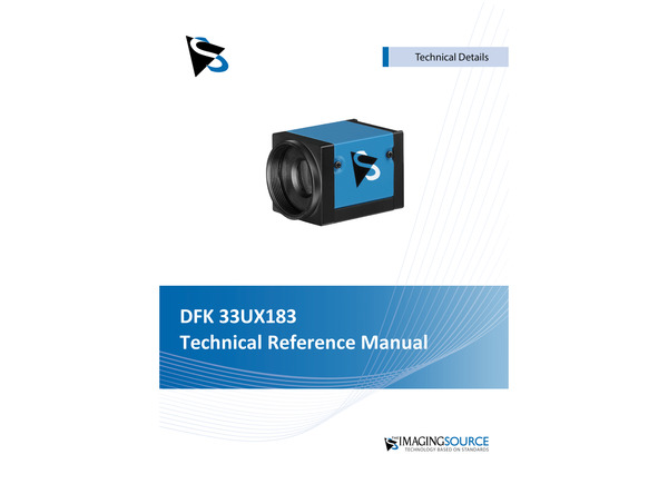 DFK 33UX183 Technical Reference Manual