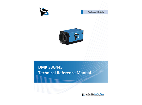 DMK 33G445 Technical Reference Manual