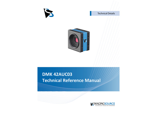 DMK 42AUC03 Technical Reference Manual
