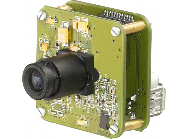 Industrial Cameras: USB CMOS - 21, 41, 51 and 61 Series - Board, Lens holder, Lens