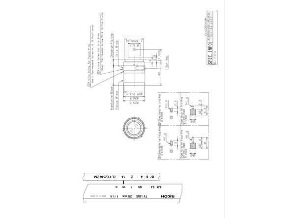 Datasheet for FL-CC2514-2M Lens