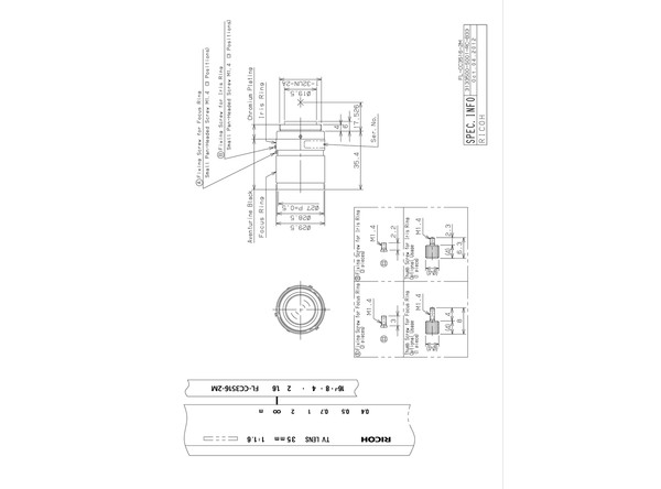 Datasheet for FL-CC3516-2M Lens