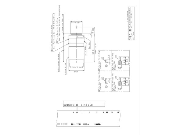 Datasheet for FL-CC7528-2M Lens